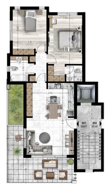 Blueprints_Apartment 201